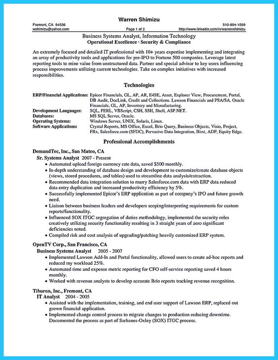 Systems Analyst Resume. Account Executive Resume Sample