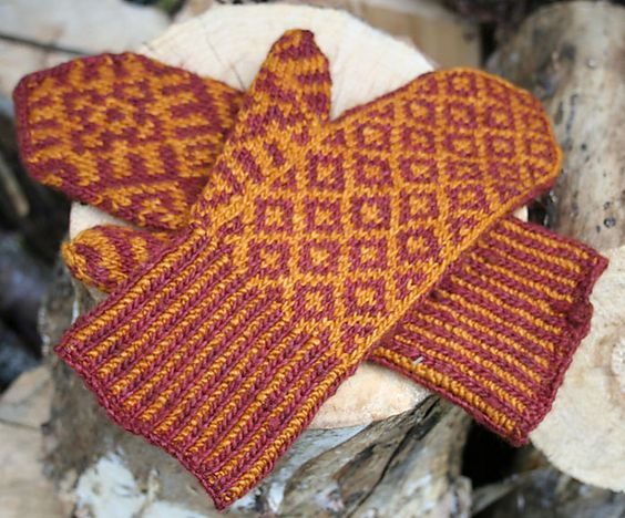 mittens pattern by Ellen Wixted | Mittens | Pinterest | Mittens ...