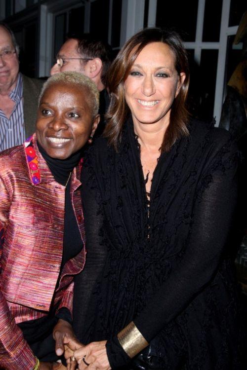 Angelique Kidjo, Donna Karan - AK wears one of a kind Peace jacket by @Imperio Jp