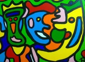 maan, moon, Ravennah4art, colours, painintg, schilderij, kunst, art,