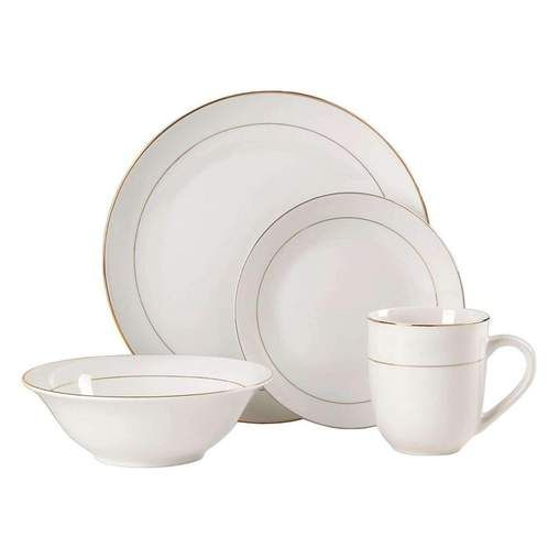 Gibsonhome Tableware Gibson Home Gold Moon 16 Piece Porcelain Gold
