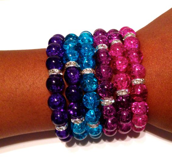 Stackable Stretch Bracelets Set by IKANDiiAccessories on Etsy, $20.00