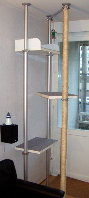 ikea hackers feline physique get an ikea stolmen cat gym for the home pinterest trees. Black Bedroom Furniture Sets. Home Design Ideas