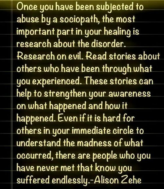 Educate yourself. A recovery from narcissistic sociopath relationship abuse.: