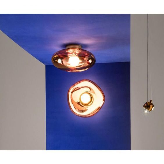 Melt Surface Light Copper Light Copper Tom Dixon Melt Wall Ceiling Lights