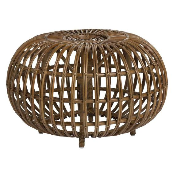 "In 1951, Franco Albini designed a stool made of rattan. ""Ottoman"" is an original, artistic and elegant piece of furniture that has multiple uses.  The design of"
