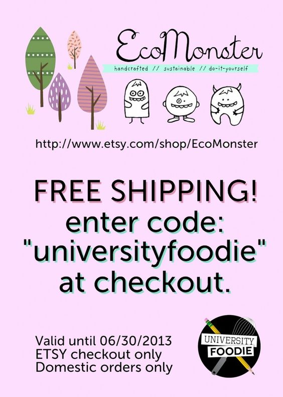 EcoMonster Coupon - Exclusive for University Foodie readers!