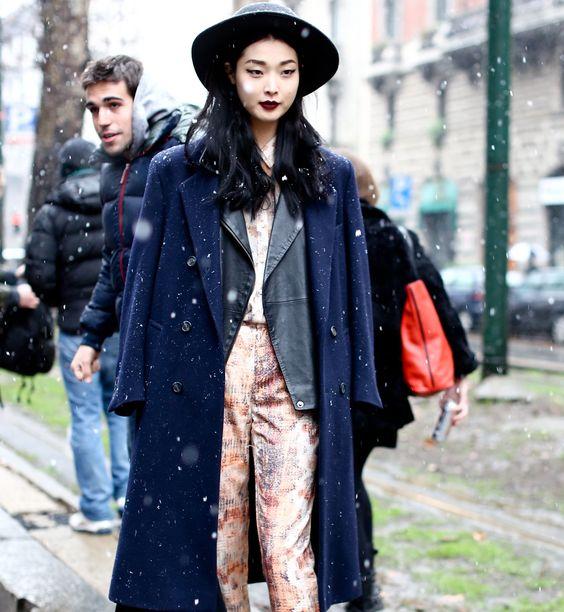 Jak nosić płaszcz? Inspiracje street fashion, fot. Imaxtree