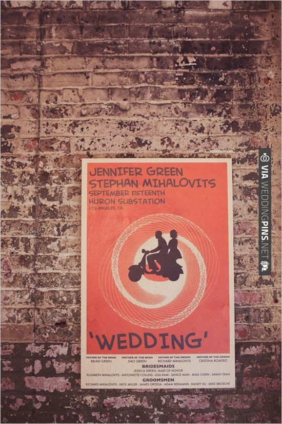 industrial wedding poster | VIA #WEDDINGPINS.NET