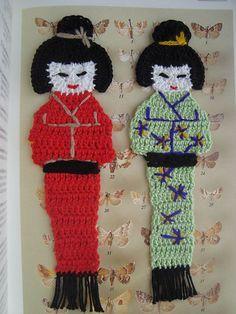 Ravelry: Kokeshi bookmark pattern by Bigú Osuna