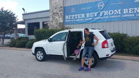JULIA's new 2013 JEEP  COMPASS! Congratulations and best wishes from Benny Boyd Motor Company - Marble Falls and DEE NIXON.