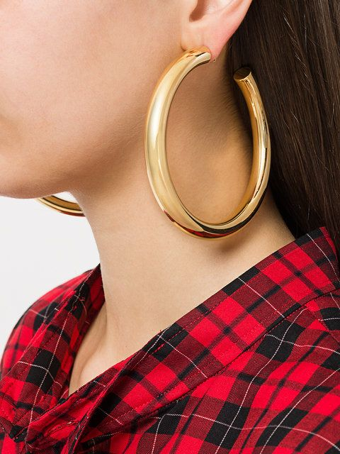 Marques'almeida oversized hoop earrings