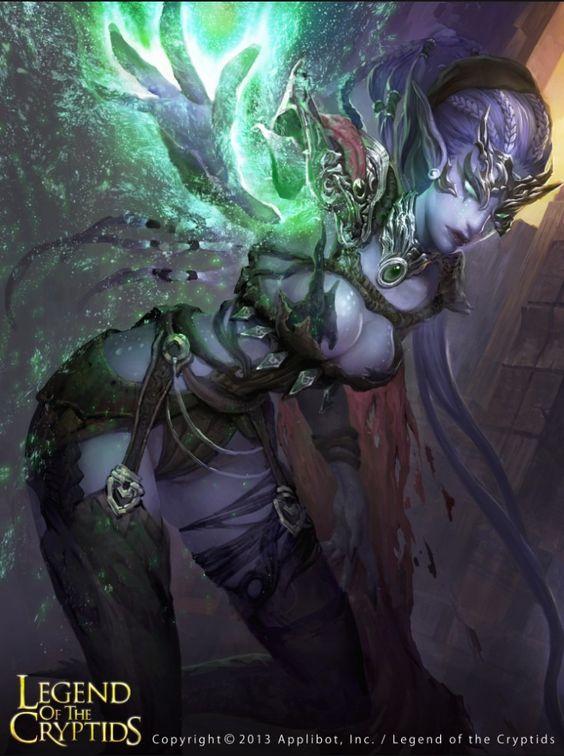 Phrase Legend of cryptids dark queen guinevere