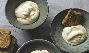 Hugh Fearnley-Whittingstall's apple snow with walnut shortbread