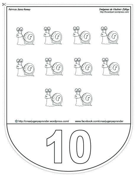 banda numérica número 10  - crear jugar y aprender