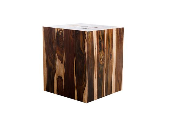 Rosewood Strip Stool, Square