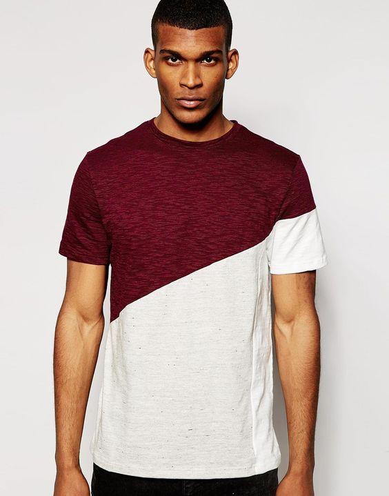 River Island - T-shirt motif color block texturé