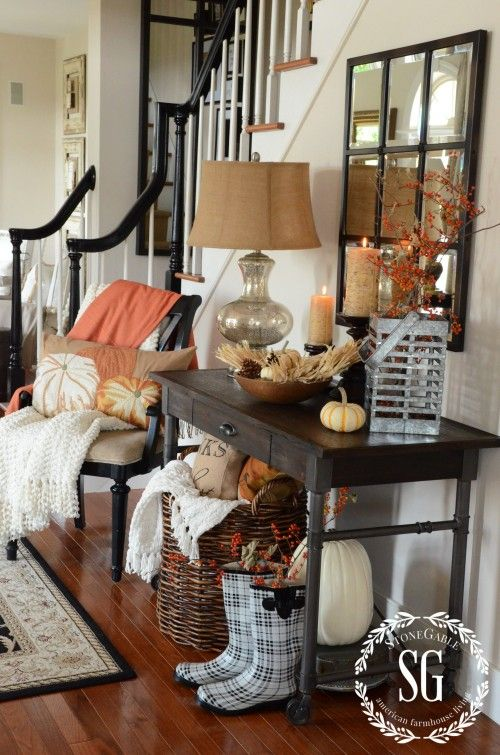 FALL HOUSE TOUR-FOYER-new table-stonegableblog.com: