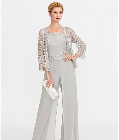 2019 Newest Gray Mother Of The Bride Dresses Two Pieces Lace Jackets Mothers Dresses For Wedding Events Pants Suit Evening Gown BC005 Joan Rivers On Joan Rivers Rivers From Venus2018, $88.65| DHgate.Com