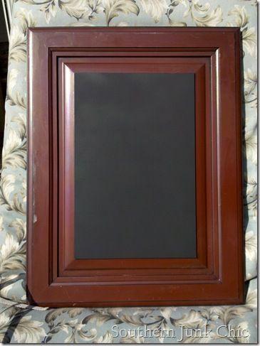 Upcycled Cabinet Door Into A Chalkboard Old Windows Doors Shutters Etc Pinterest