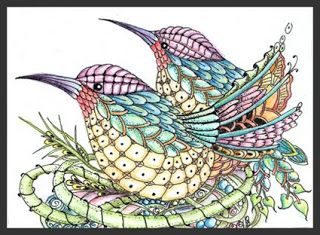 Fairy Tangles: Tangle of Hummers