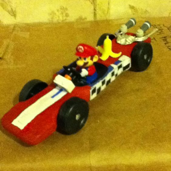 My sons design mario pinewood derby car cub scouts for Boy scouts pinewood derby templates