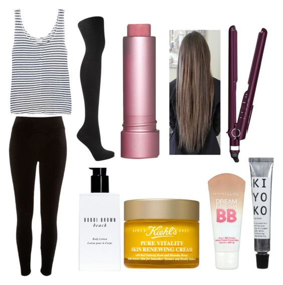 """""""Your PJs on Christmas Day: Sehun"""" by scarletpeak ❤ liked on Polyvore featuring Frame, River Island, BaByliss, Bobbi Brown Cosmetics, Kiehl's and Maybelline"""
