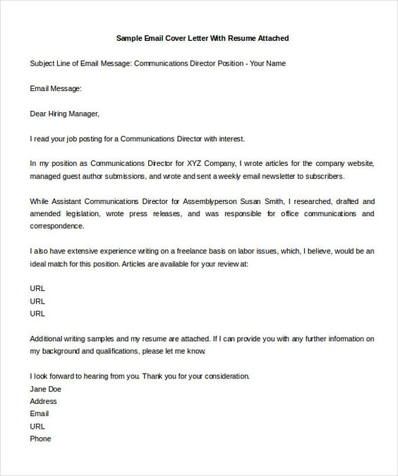 format samples email cover letters job application emailmple - email resume sample message