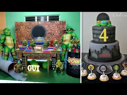 حفلات عيد ميلاد مع ديكور سلاحف النينجا Birthday Parties With Turtles Decorations Youtube Birthday Birthday Cake Cake