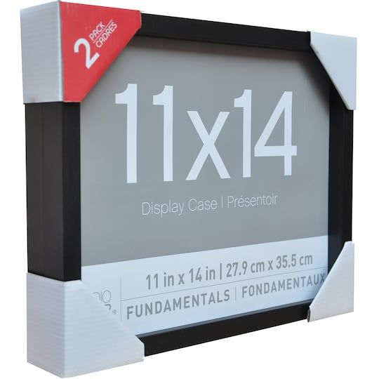 2 Pack Black 11 X 14 Shadow Boxes Fundamentals By Studio Decor Michaels Shadow Box Decor Display Case