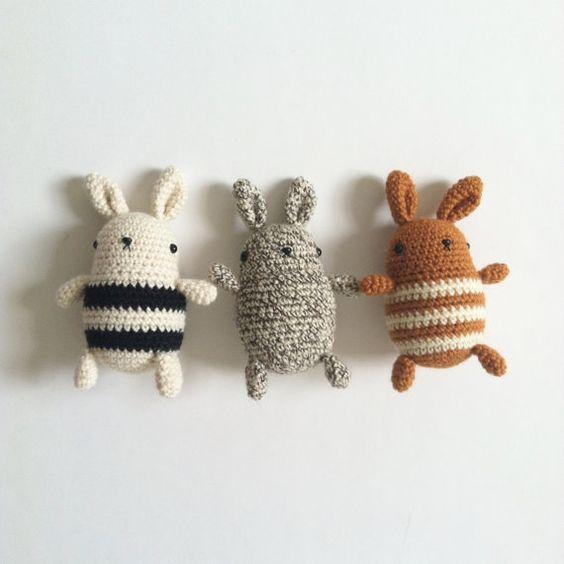 Crochet Pattern Little Bun Amigurmi Rabbit by TheHumbleCarnival