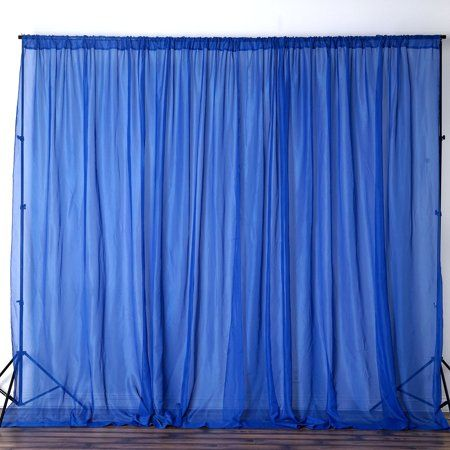 Balsacircle 10 Feet X 10 Feet Sheer Voile Backdrop Drapes Curtains 2 Panels 5x10 Ft Wedding Ceremony Party Home Decorations Walmart Com In 2020 Custom Drapes Panel Curtains Drapes Curtains