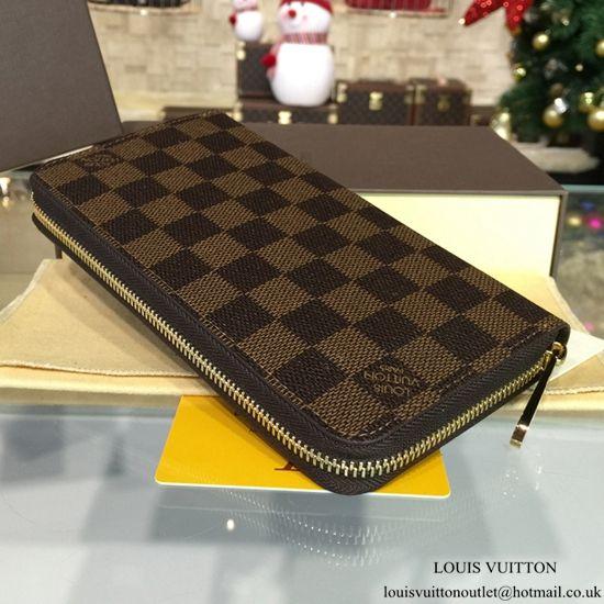 online store 660ff 0a26d Louis Vuitton N60015 Zippy Wallet Damier Ebene Canvas ...