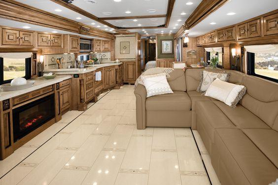 2013 Tiffin Motorhomes Living Area Dinette 45 Lz C Floor