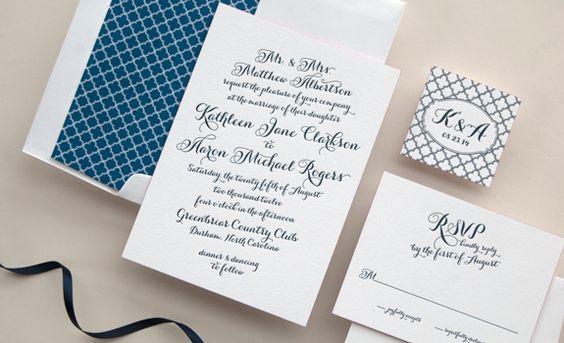 Love the actual invitation.