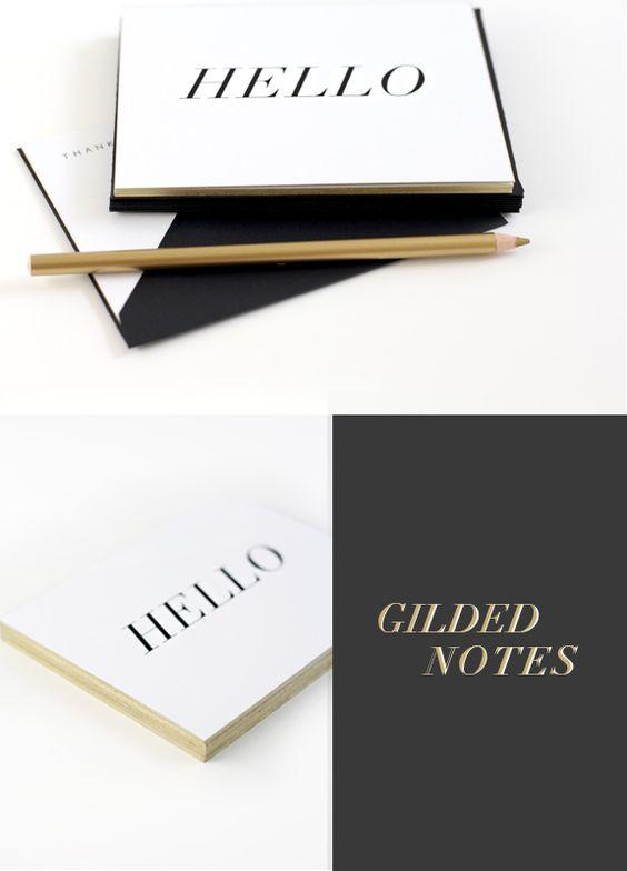 Besotted Brand Blog: NEW! GILDED NOTESET I - GORGEOUS!