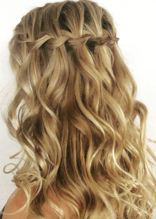 Image Result For Waterfall Braid Beachy Waterfall Braid With Curls Braids With Curls Hair Styles