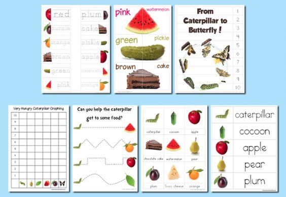 very hungry caterpillar preschool pack