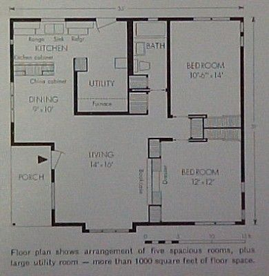 Lustron Home floor plan