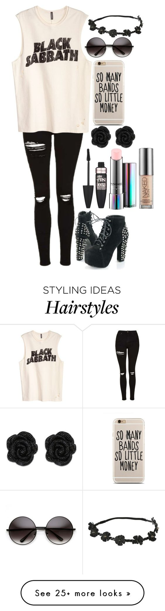 """●I've waited for a long time, the sleight of my hand is now a quick pull trigger, reason with my cigarette, they say ""your hair's on fire, you must've lost your wits, yeah""●"" by gisforgiraffe on Polyvore featuring Topshop, Maybelline, MAC Cosmetics and Urban Decay"
