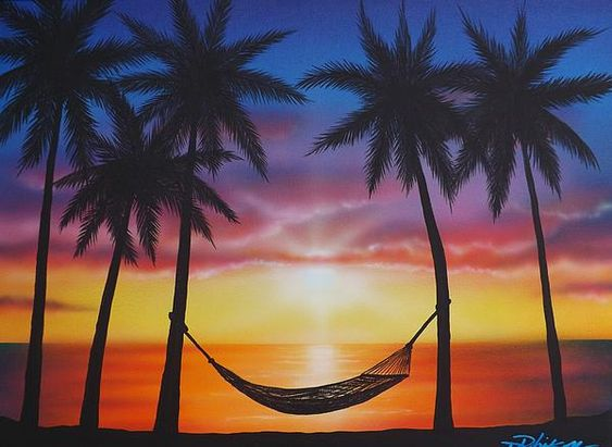 Paintings Sunsets And Beaches On Pinterest