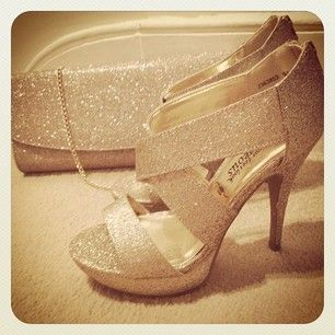 Glam shoes and handbag for a glitzy Christmas party