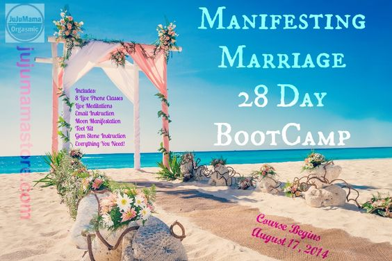Manifesting Marriage Bootcamp - You need this if you want that.  xx -- fast!  http://www.jujumamablog.com/shop/index.php?dispatch=products.view&product_id=284