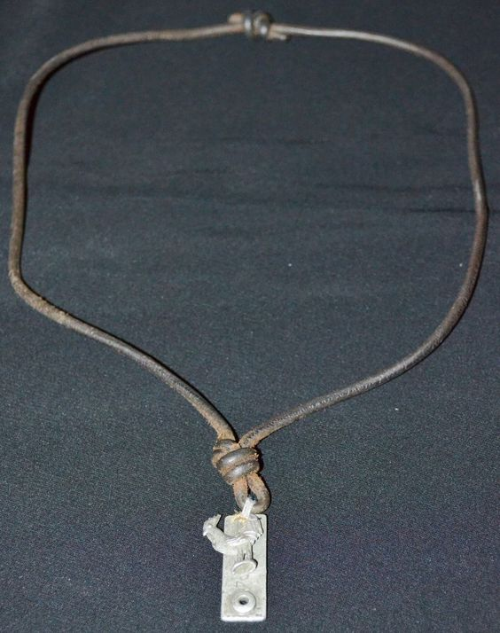 ABERCROMBIE & FITCH Mens Necklace Leather Adjustable Necklace Rooster Tag w/ Box #AbercrombieFitch #Lariat