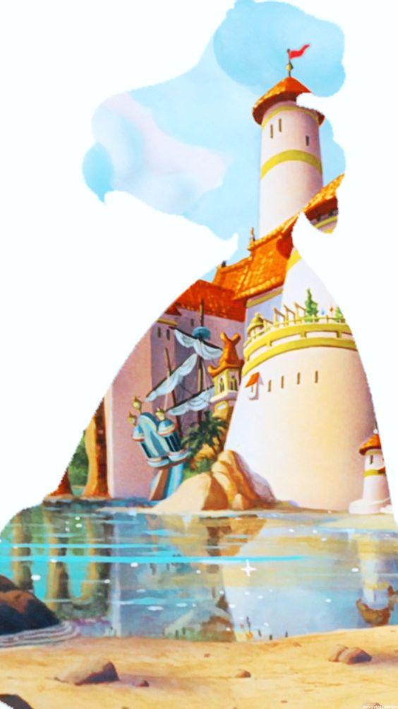 Disney Princesses iPhone 6 backgrounds (Ariel)