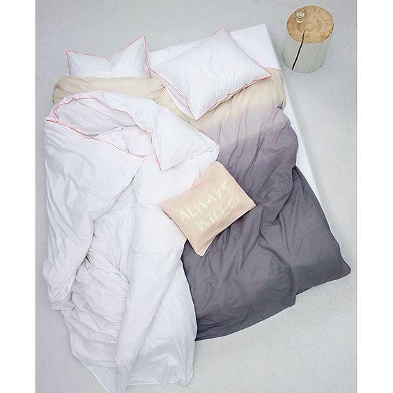 Dip and dye dekbed geweldig!   In combinatie met mooie nudetinten #vtwonencollectie