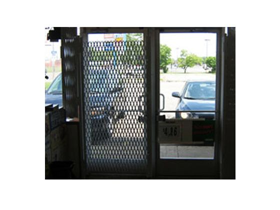 Double Diamond Folding gate for door Security - Glassessential.com  http://www.glassessential.com/security-scissor-folding-gate  #folding #gate #door #foldinggate #expandable #collapsible #security #expandablegate #collapsiblegate #securitygate #storefront #patio #divider #enclosure #storage #access #accesscontrol