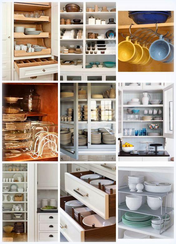Cozinha bacana como organizar o arm rio de lou as - Como organizar armarios ...