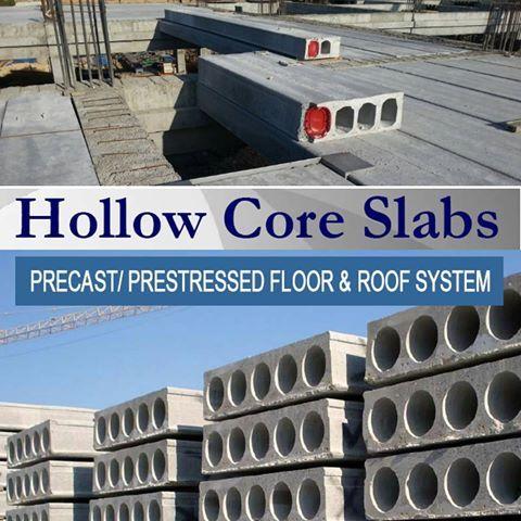 Hollow Core Slab هو نظام إنشائي لبلاطات سابقة الإجهاد Prestressed وميزتها تغطية بحور Spans كبيرة تصل إلى 20 متر بدون أعمد Roofing Systems Concrete Architecture