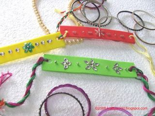 How to make rakhi with waste material for Waste material handicraft